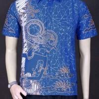 Jual Baju Batik,Batik Pria, Kemeja Batik Motif Wayang 710 Murah