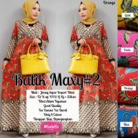 Maxi Dress Muslim Long Dress Gamis Baju Wanita BATIK MAXI