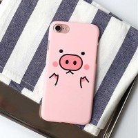 iPhone 5 SE 5s Pink Pig Cute Cartoon Pastel Hard Case Casing HP