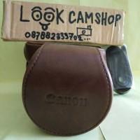 LEATHER CASE COVER CAMERA BAG TAS KAMERA CANON EOS M3 M 3 - COFFEE