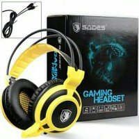 Sades Arcmage 3.5mm LED Gaming Headset Stereo Bass Headphones with Mic