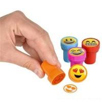 1 Set Stampel Mini Gambar Emoji Cap 10pcs