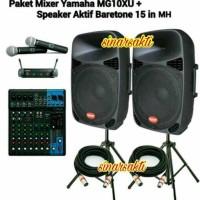 PROMO PAKET SOUND SYSTEM YAMAHA & BARETONE ( 15 INCH AKTIF ) ORIGINAL
