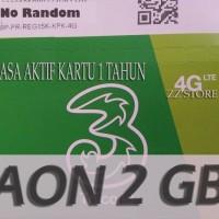 harga Perdana Three/3/tri Aon 2gb+4gb Masa Aktif 1 Tahun Tokopedia.com