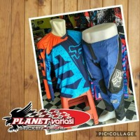 harga Jerset Jersey Set Cross Trail Fox 2017 Blu + Celana Tokopedia.com