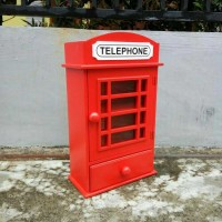 Jual KOTAK OBAT P3K PHONEBOX LONDON (PLUS LACI) Murah