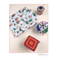 M-XL Piyama Anak Celana Tidur Panjang Baju Couple Sleepwear Katun Pira