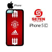 Casing HP iPhone 5C manchester united adidas Custom Hardcase Cover
