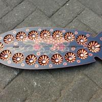 Jual Mainan dakon lipat kayu batik Murah