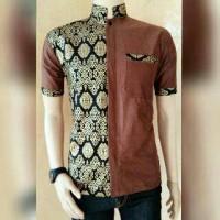 Jual baju koko taqwa kombinasi batik prada Murah