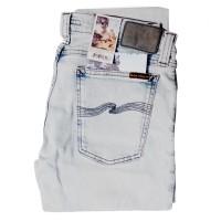 Nudie Jeans Tight Long John Organic Black Bleach 32/32 100% Original
