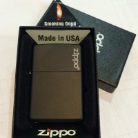 218ZL Black Matte logo Zippo Original Lighter