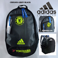 Tas ransel adidas chelsea grey black sport bola futsal olahraga sekola