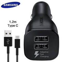 Car Adapter Saver Mobil Dual Usb Type C Fast Charging S8 A3 A5 A7(2017