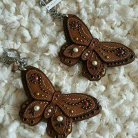 Coach Butterfly Keychain