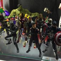 Jual Paket Avengers Shf Captain America, Ironman , Shf Black Panther, dll Murah