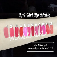 Jual DISKON!! LA Girl Lip Matte ( Flat finish pigment lips gloss ) Murah