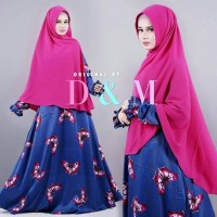 Set Gamis Syari maxmara butterfly Dress Hijab Murah Grosir khimar kupu