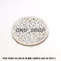 Jual PCB Toso 16 Led 35 MM ( Seri 8 Led 24 Volt ) kualitas bagus Murah