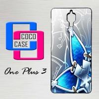 Casing Hardcase Hp OnePlus 3 Kingdom Hearts Aqua Wayfinder X4536