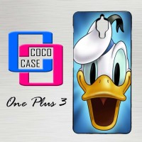 Casing Hardcase Hp OnePlus 3 Cartoon Donald Duck Face X4474