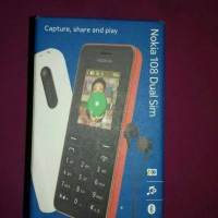 Dus hp Nokia 108 dual sim warna black