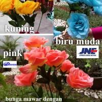 Jual bunga mawar / artificial flower / bunga plastik / bunga hias / pink Murah