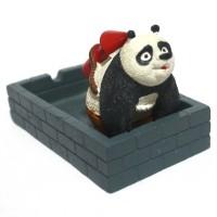 Jual Barang Unik Asbak Keramik Kungfu Panda Motif-2 AB30 Murah