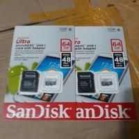 Jual MICRO SD SANDISK 64GB CLASS 10 BONUS ADAPTOR Murah