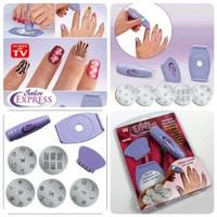 Jual New!! Salon Express / Nail Art Stamping Kit , Decorate Your Nails Murah