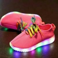 Jual Sepatu LED yeezy tali pink Murah