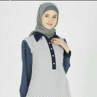 Mila White - Navy from Hijabenka
