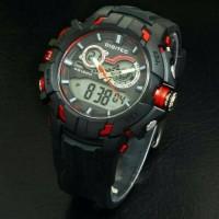 Jam tangan pria DIGITEC DG3042 black red ORIGINAL