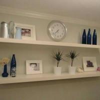 Jual 2pcs rak dinding minimalis /floating shelf/rak ambalan Murah