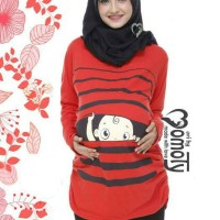 Baju Hamil Unik Merah Kaos Lucu Maternity T Shirt Juni Online Shop