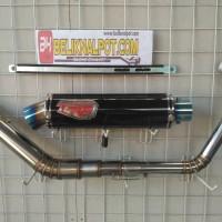 Harga Knalpot Racing Yamaha R15 R9 Carbon Half Blue Fullsystem
