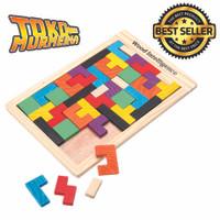 Jual Mainan Puzzle Tangram Tetris - Multi-Color Murah