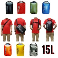 Jual Drybag / Dry Bag Nature Army Edition 15l (Double Strap) Murah