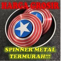 Jual Captain America Shield-Fidget Spinner Besi/Hand Spinner Metalik/Spiner Murah