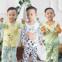 3 Setel Kazel Piyama Boy / Girl L 3-4thn Piyama Anak Baju Tidur Bayi