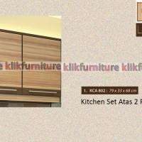 KCA 802 Sucitra Kitchen Set Minimalis Atas 2 Pintu