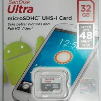 Sandisk Ultra Micro SD Card 32gb 48MBps Class 10 - Garansi Resmi
