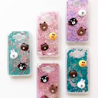 Jual casing Water Glitter 3D Line Brown n Friends Murah
