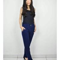 Celana Panjang Wanita Bahan Stretch Free Belt Model Korea