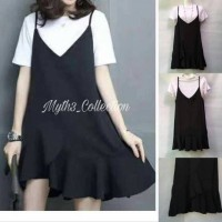 Jual Premium Dress Overall Black 1781 Murah