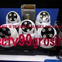 PAKET 16 CH APLIKASI NVSIP 5 PIS CAMERA INDOR 1.3MP + HDD 500 GB