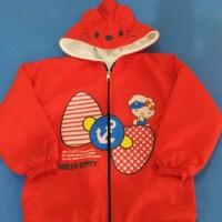 Jual Jaket Baju Dingin Anak Cewek Parasut Hello Kitty Minnie Frozen Merah Murah