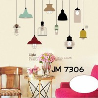 Jual Wall Stiker Uk.60x90 Wall Sticker Lampu Gantung JM7306 Hiasan Dinding Murah