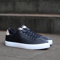 adidas neo vl court core black leather