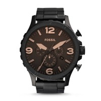 Fossil Nate Chronograph Black Stainless Steel - JR 1356